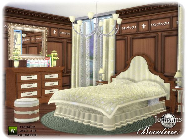 Becotine bedroom by jomsims at TSR image 3513 Sims 4 Updates