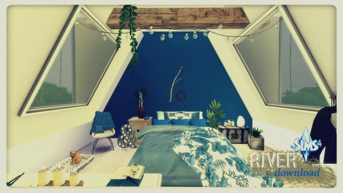 River attic bedroom at Pandasht Productions image 3523 670x377 Sims 4 Updates