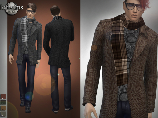 Sims 4 Brandon winter outfit by jomsims at TSR