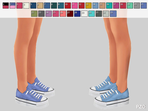 Cosette Shoes Recolor by Pinkzombiecupcakes at TSR image 368 Sims 4 Updates