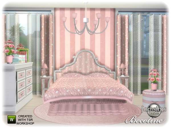 Becotine bedroom by jomsims at TSR image 3713 Sims 4 Updates