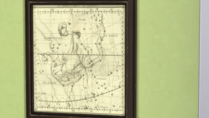 Sims 4 Celestial Maps Wall Hangings by indracanna at Mod The Sims