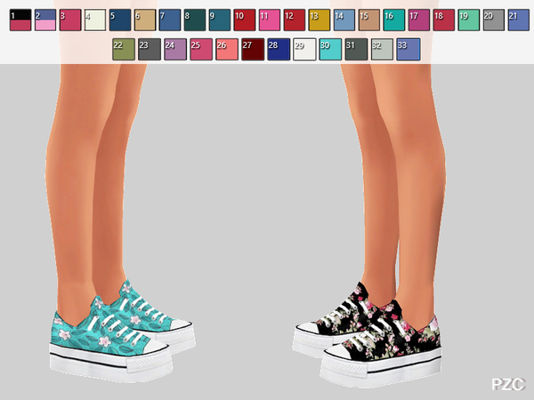 Sims 4 Cosette Shoes Recolor by Pinkzombiecupcakes at TSR