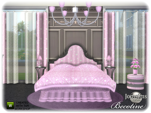 Becotine bedroom by jomsims at TSR image 3812 Sims 4 Updates