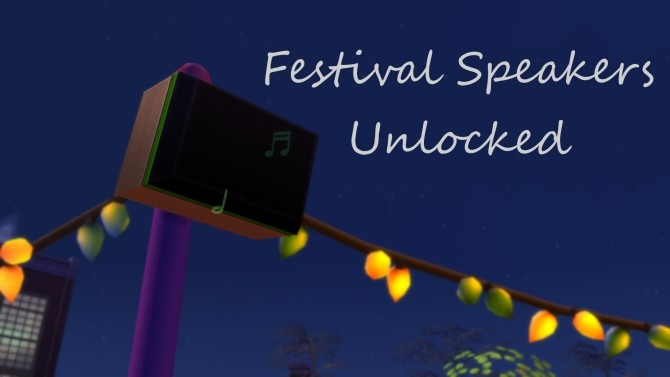 Festival Speakers Unlocked by mars97m at Mod The Sims image 3815 670x377 Sims 4 Updates