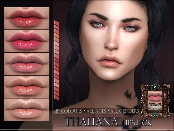 Sims 4 Thaliana Lipstick by RemusSirion at TSR