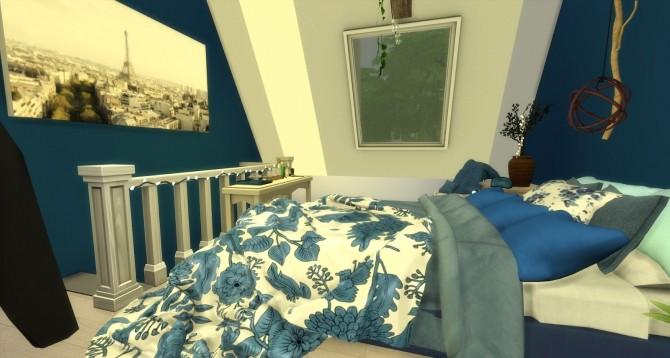 Sims 4 River attic bedroom at Pandasht Productions