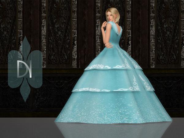 Sims 4 Crinoline Vintage Dress by DarkNighTt at TSR