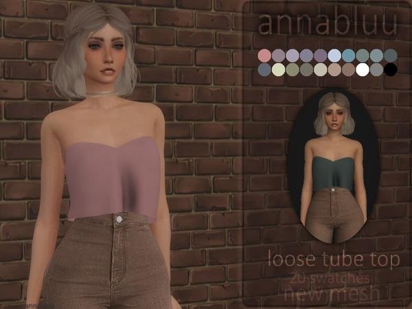 Sims 4 Loose Tube Top by Annabluu at TSR