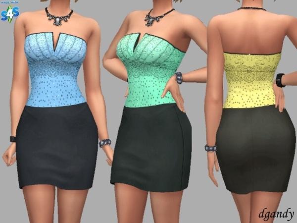 Sims 4 Bonnie dress by dgandy at TSR
