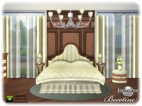 Becotine bedroom by jomsims at TSR image 3912 Sims 4 Updates
