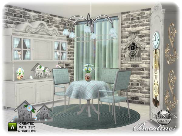 Sims 4 Becotine dining room by jomsims at TSR