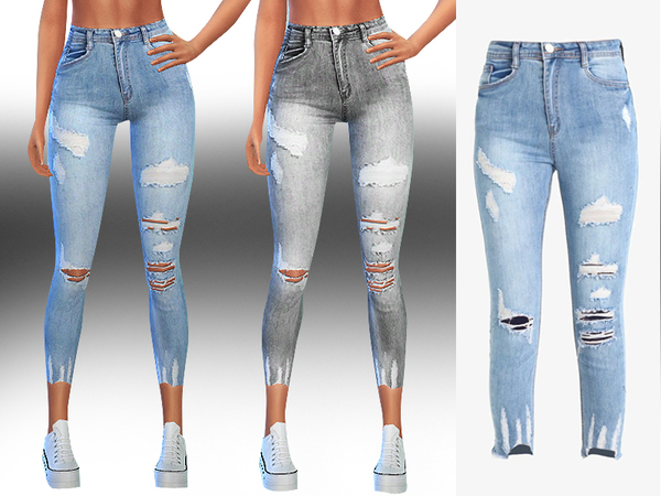 New Style Ripped Authentic Jeans by Saliwa at TSR image 397 Sims 4 Updates