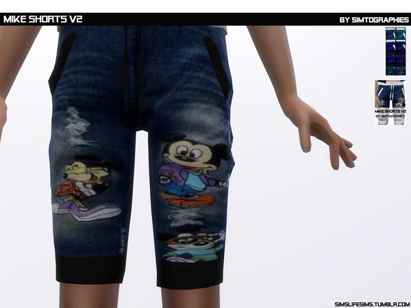 Sims 4 Mike Shorts V2 by simtographies at TSR