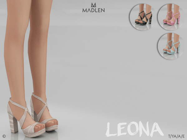 Sims 4 Madlen Leona Shoes by MJ95 at TSR