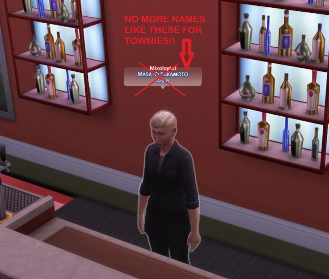 No repetitive City Living townie names by simmytime at Mod The Sims image 406 670x567 Sims 4 Updates