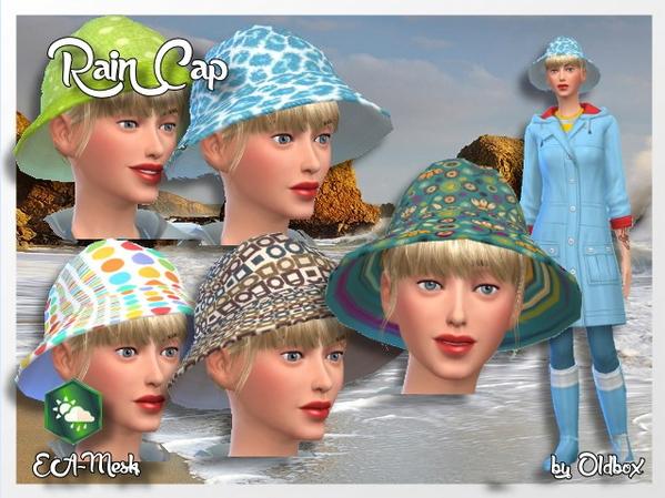 Sims 4 Rain cap by Oldbox at All 4 Sims