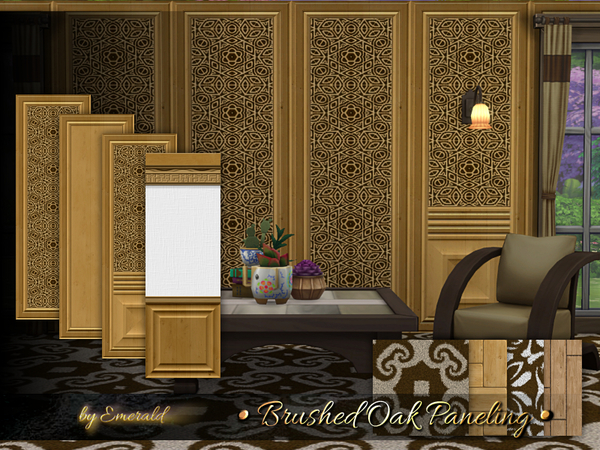 Brushed Oak Paneling by emerald at TSR image 418 Sims 4 Updates