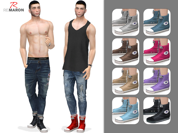 Shoes for men by remaron at TSR image 420 Sims 4 Updates