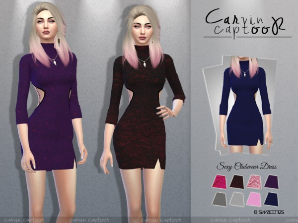Clubwear Dress by carvin captoor at TSR image 4312 Sims 4 Updates