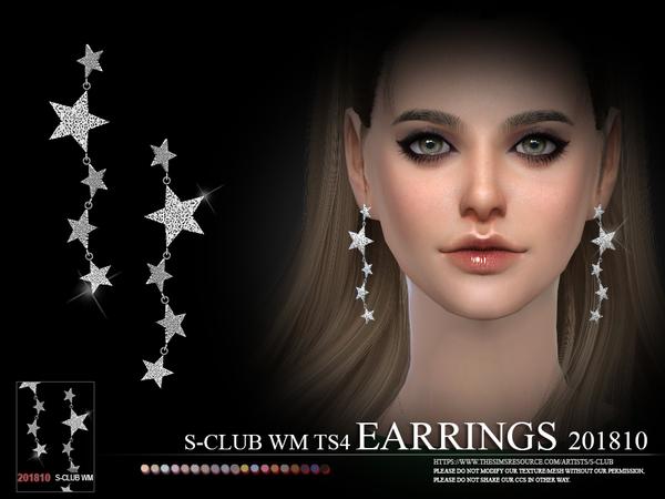 Sims 4 EARRINGS F 201810 by S Club WM at TSR