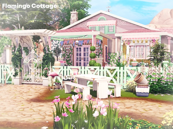 Flamingo Cottage by Pralinesims at TSR image 44 Sims 4 Updates