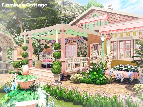 Flamingo Cottage by Pralinesims at TSR image 45 Sims 4 Updates
