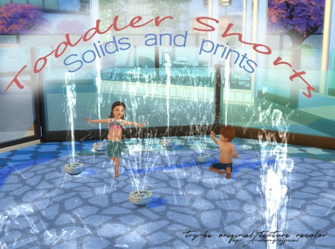Sims 4 Toddler shorts Solids and Patterns by andlarryofficial at Mod The Sims