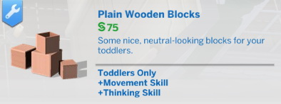 Plain Wooden Toddler Blocks by gallaell000 at Mod The Sims image 4513 Sims 4 Updates