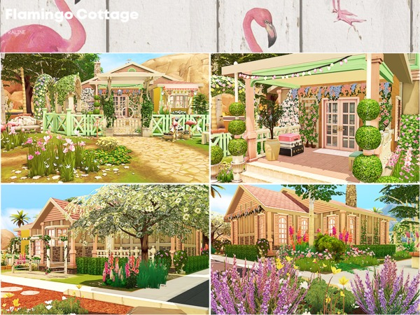 Flamingo Cottage by Pralinesims at TSR image 46 Sims 4 Updates