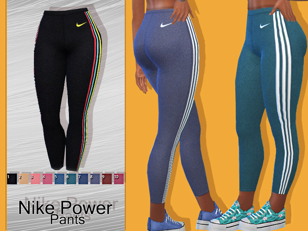 Sims 4 Power Athletic Pants by Pinkzombiecupcakes at TSR