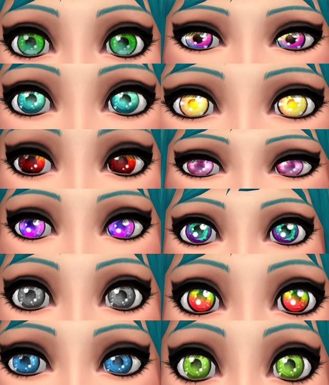 Anime Style Eyes Multiple Colors by Hollena at Mod The Sims image 469 Sims 4 Updates