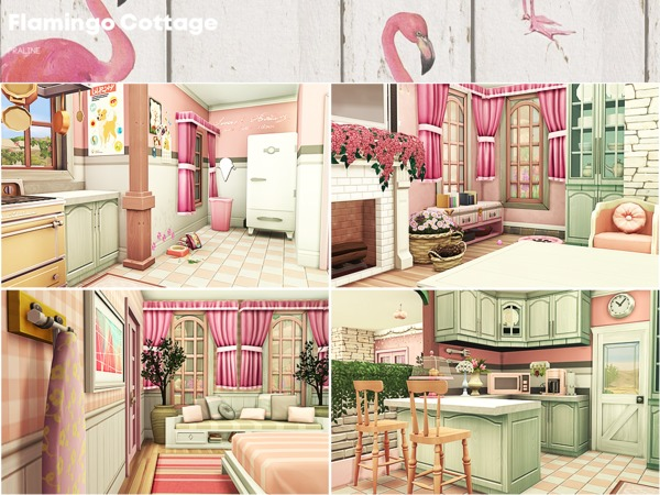 Flamingo Cottage by Pralinesims at TSR image 47 Sims 4 Updates