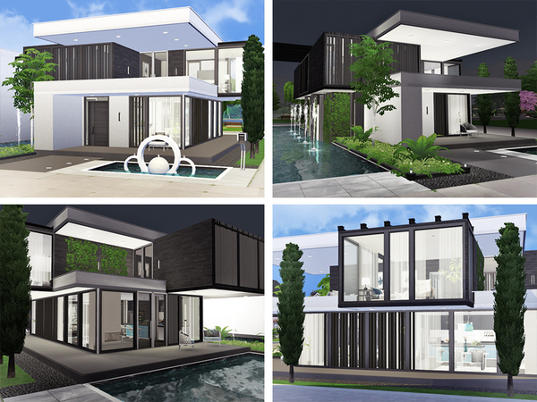 Sims 4 Carole house by Rirann at TSR