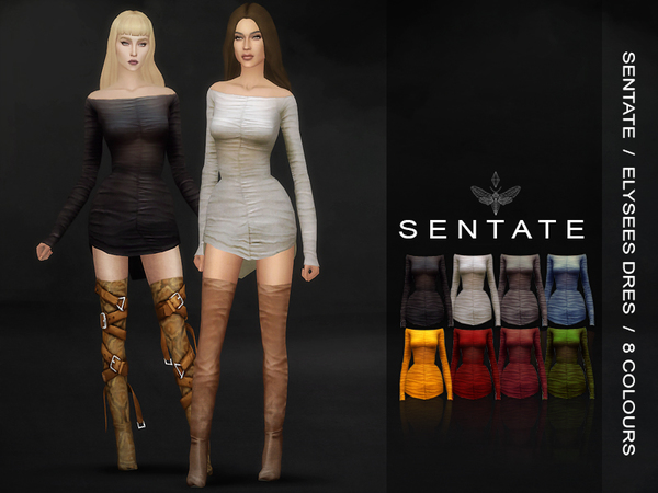 Elysees Dress by Sentate at TSR image 48 Sims 4 Updates