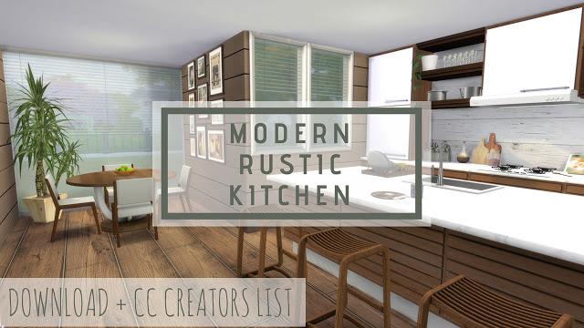 Modern Rustic Kitchen at Dinha Gamer image 485 Sims 4 Updates