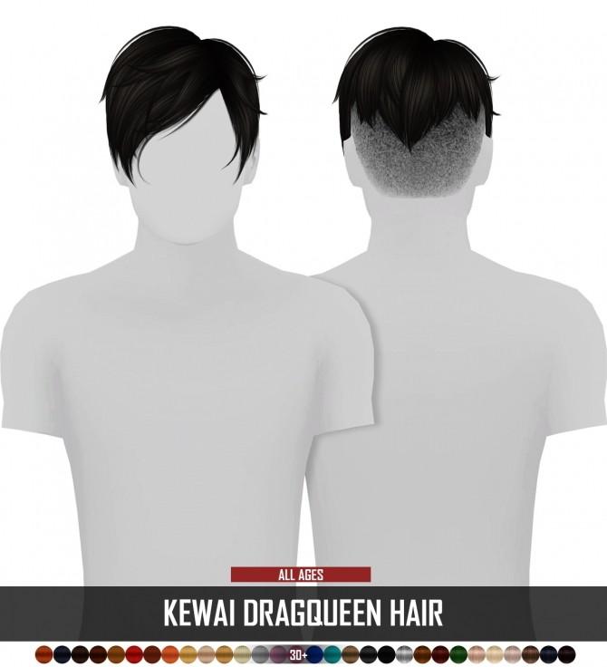 Sims 4 KEWAI DRAGQUEEN HAIR ALL AGES by Thiago Mitchell at REDHEADSIMS