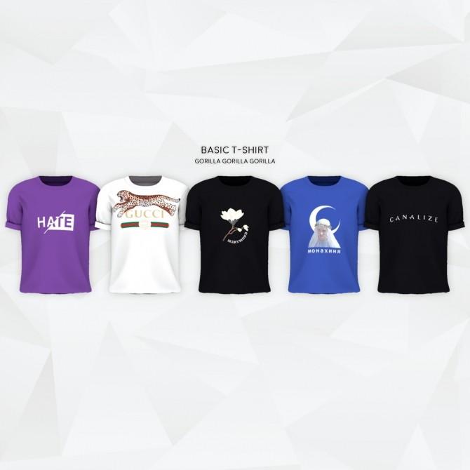 Basic T Shirt at Gorilla image 4916 670x670 Sims 4 Updates