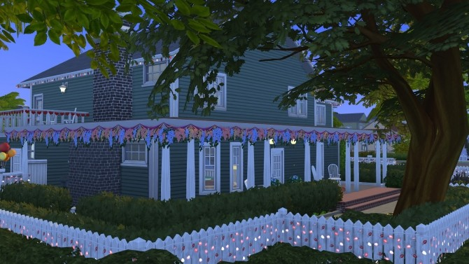 Sims 4 4355 Wisteria Lane house (NO CC) by LianZiemas at Mod The Sims