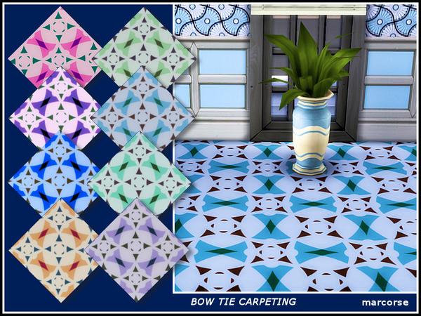 Bow Tie Carpeting by marcorse at TSR image 5105 Sims 4 Updates