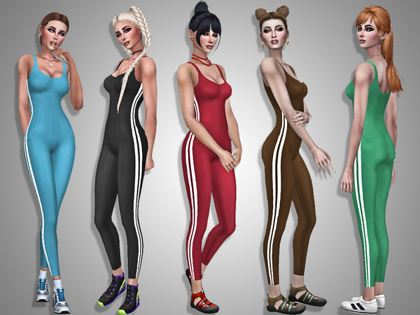 Sims 4 Sportwear jumpsuit by Simalicious at TSR