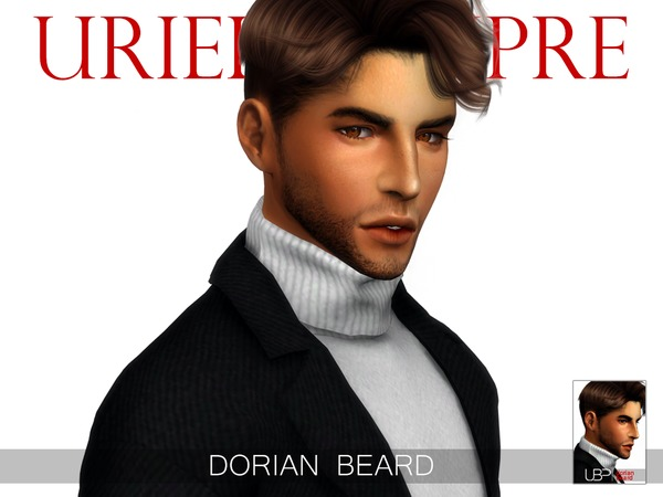 Sims 4 Dorian beard by Urielbeaupre at TSR