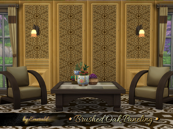 Brushed Oak Paneling by emerald at TSR image 518 Sims 4 Updates