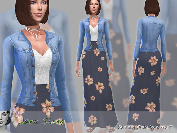 Summer Outfit Vanessa by Jaru Sims at TSR image 5210 Sims 4 Updates