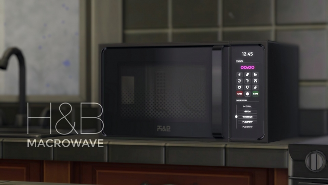 H Amp B Macrowave Oven By Littledica At Mod The Sims 187 Sims 4