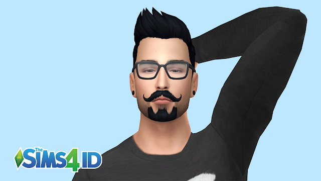 Sims 4 Van Dyke Style Beard by David Veiga at The Sims 4 ID