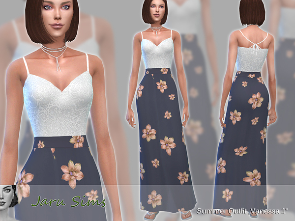 Summer Outfit Vanessa by Jaru Sims at TSR image 538 Sims 4 Updates