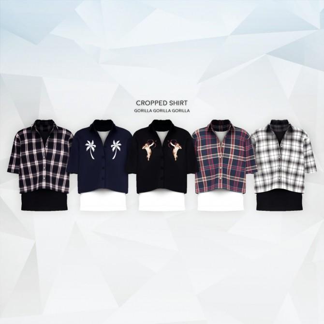 Cropped Shirt at Gorilla image 543 670x670 Sims 4 Updates