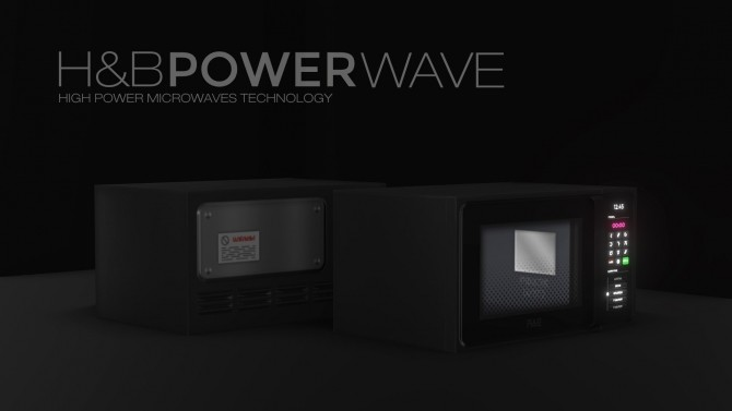 Sims 4 H&B MacroWave oven by littledica at Mod The Sims