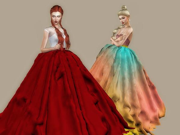 Sims 4 Eris Skirt by Sharareh at TSR